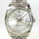 ロレックス デイトジャスト K18WG(ホワイトゴールド)ベゼル 116234 メンズ 時計