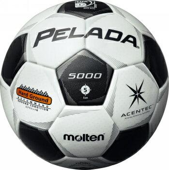 モルテンmoltenペレーダ5001土用5号サッカーボールネーム加工可(白×黒)F5P5001