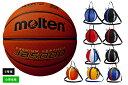 ネーム加工不可 モルテン moltenバスケットボール5号球1個入れボールバックセット検定球 人工皮革【B5C5000-NB10】
