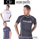 ラッシュガード 半袖 水着 メンズ 男の子 UVカット OP オーシャンパシフィック 送料無料 M L XL