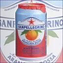 サンペレグリノ スパークリング フルーツベバレッジ アランチャータ・ロッサ(ブラッドオレンジ) 正規輸入品 330ml缶x24本(賞味期限2018年4月30日)