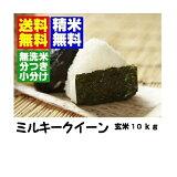 【新米】 26年産山形県産ミルキークイーン玄米10kg【無洗米・胚芽米対応】【米・】