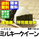 24 new rice yearly output supports 10 kg of cultivation mil key queen unpolished rice [free shipping] from Yamagata [rice with germs] [no-rinse rice] particularly