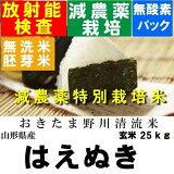 26年産特別栽培米山形県産はえぬき玄米30kg【無洗米 胚芽米 分づき米 対応】【米 30kg  減農薬】
