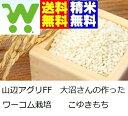 【新米】30年産一等米 ワーコム栽培 山形県産こゆきもち白米22.5kg【精米・送料無料