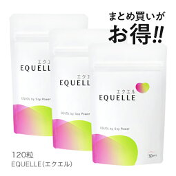 <strong>エクエル</strong> <strong>パウチ</strong>【1〜3営業日出荷】大塚製薬 120粒×3袋 エクオール EQUELLE【メール便】【オススメ】