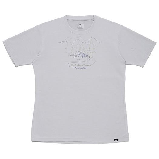 ミズノ ブリーズライト メッシュプリントTシャツ