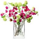 LSA FLOWER RECTANGULAR BUNCH VASE ベース H220mmクリアー<花瓶>