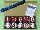 GH3010 ゲートボール 3面番号表示ボール1組 ゲートボール用品
