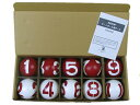 GH3010 3面番号表示ボール1組 ゲートボール用品