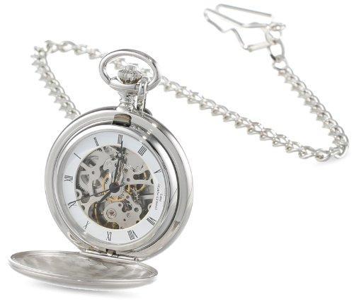 チャールズヒューバート Charles-Hubert, Paris Satin Finish Mechanical Pocket Watch ポケットウォッチ メンズ レディース 懐中時計 腕時計 送料無料