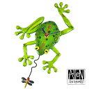 Allen Designs アレン デザイン コレクション 振り子時計 Frog Fly Pendulum Wall Clock カエルとハエ 【 置き時計 掛け時計 】 C106 …