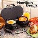 ハミルトン ビーチ Hamilton Beach 25490A デュアル ブレイクファスト サンドイッチ メーカー Dual Breakfast Sandwich Maker 【 最大2コ 5分以下 簡単調理 サンドイッチ イングリッシュマフィン ホットケーキ お好みの具材で 】