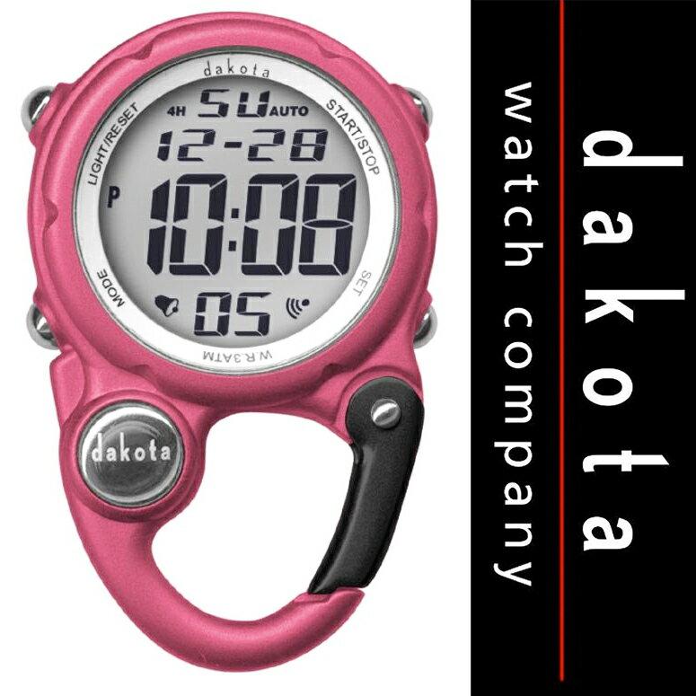 ダコタ Dakota 時計 カラビナ ウォッチ ミニ クリップ 時計 Pink 【 アウトドア 懐中時計 日焼け 】 Dakota Watch Company 送料無料