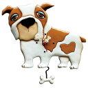 ブルドッグ 振り子時計 アレン デザイン コレクション Allen Designs Spike Bulldog Dog Clock スパイク 犬 骨 置き時計 掛け時計 P107..