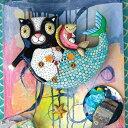 ねこ人魚 振り子時計 アレン デザイン マーメイドキャット マーキャット Allen Designs Mercat Cat Mermaid Clock マーキャット マーメイド キャット ビーチ 黒猫 魚 ヒトデ 熱帯 掛け時計 P1552 送料無料 ミシェルアレン ミシェル・アレン
