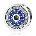 チャーム ブレスレット バングル用 BAMOER バモア BAMOER 925 Sterling Silver Lucky Blue Evil Eye Charm Bead with Sparkling CZ for Women Girls Gift Fit for Bracelets Necklace Color 1 送料無料 【並行輸入品】