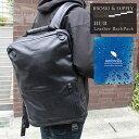 【ただいまポイント10倍中! 3/15 09:59まで】 BROSKI and SUPPLY HUB Leather BackPack ブロスキー アンド サプ...