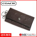【週末ポイント5倍!】 コーチ キーケース メンズ COACH key case ダークブラウン F26105 MAH 【当店全品送料無料♪】【あす楽】