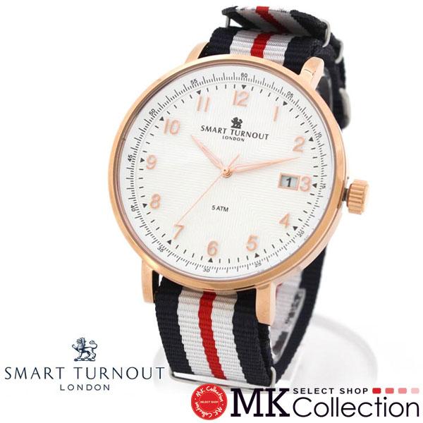スマートターンアウト 時計 メンズ レディース 国内正規品 SMART TURNOUT ホワイト 腕時計 STH3 WH-YH/20 新品 SMART TURNOUT Watch ユニセックス 人気 保証 イギリス