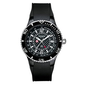 SWISS MILITARY ( swismiglitary ) by Grovana GMT date carbon black / white 1606.1873 02P04oct13