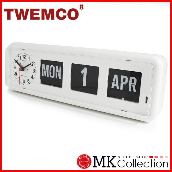 トゥエンコ 置時計 ホワイト 正規品 TWEMCO クロック インテリア 時計 オシャレ BQ-38 WHITE