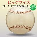 ゴールド サインボール 野球 ビッグサイズ 17cm BB78-27(UNIX) 特大記念ボール お祝い 記念品 寄せ書き