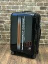 ショッピングcm スーツケース Sサイズ ファスナータイプ 35L 1〜3泊プラスワン ブラニフ 787-50cm小型 機内持ち込みキャリーバッグブラック×ストライプ柄