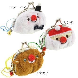 Ptigamaguchi 零錢包硬幣錢包可愛的聖誕玩具