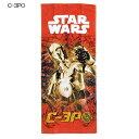 スターウォーズ フェイスタオル C-3PO 丸眞 34×80cm SF映画 ファンシー雑貨