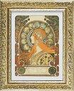 【取寄品】アルフォンス・ミュシャ 名画 額付きポスター ゾディアック ユーパワー 42×52cm おしゃれ インテリアグッズ