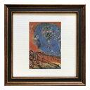 名画 シャガール Marc Chagall Square Frame Couple of lovers on a red backgroung 美工社 ZFA-62143 額付き ギフト インテリア 取寄品 マシュマロポップ