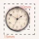 時計 デザイン【ネイルアートシール】(2)/1シート4枚入