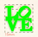 【LOVE(1)ネオンカラー ネイルシール】蛍光グリーン/1シート4枚入