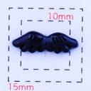 天使の羽(エンジェル)14×5ミリ《ネイル・デコ電用プラパーツ》ブラック6個