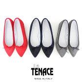 *【SALE対象外】【2016SS】【送料無料】La TENACE ラテナーチェ スエードポインテッドフラットシューズ 20 (VELOUE/NAPPA) 【RCP】