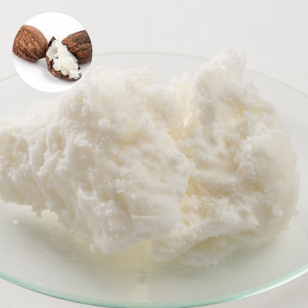 Organic and refined Shea butter and 200 g