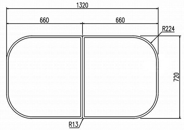 LIXIL INAX 風呂フタYFK-1475B(2)-K ・カラー ホワイト 【smtb-k】【w3】