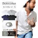 【最大40倍ポイント】ヘンリーネック メンズ Tシャツ | 無地 半袖 アメカジ 綿100% コンチョボタン ティーシャツ トップス カットソー おしゃれ おすすめ 人気 かっこいい ホワイト グレー ネイビー ブラック 白 黒 インナー テーシャツ 小さいサイズ XL LL 2L 春物