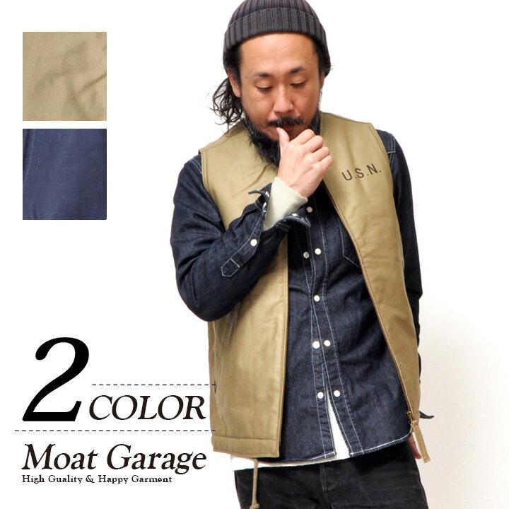 N-1 デッキベスト メンズ コットン 春秋風 ベージュ/タン/ネイビー M-XL N1デッキジャケット