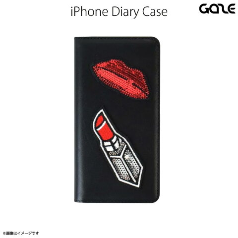 iPhone 8 iPhone 7 レザーケース 手帳型ケース GAZE 【9965】GZ7996i7 リップ Spangle Lipstickロア・インターナショナル【宅配便送料無料】