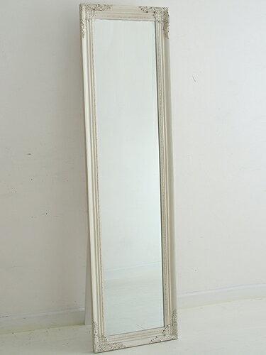 ミラー スタンドミラー ウォールミラー 鏡 壁掛け 姿見 全身 玄関 アンティーク おしゃれ インテリア雑貨 北欧 カフェ ナチュラル プレゼントスタンドミラー ホワイト色0222-mr-820007-WH