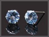 大粒でブルーが素敵!!プラチナ900Pt900アクアマリンピアス☆5.0mm【3月誕生石】【】【楽ギフ包装】