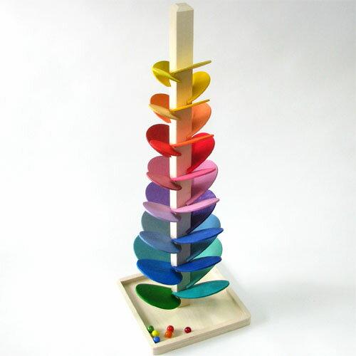 木のおもちゃ知育玩具クーゲルバーンボーネルンドマリオブローニ社カラコロツリーL誕生日3歳Y