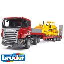 Bruder ブルーダー ドイツ SCANIA(スカニア) トラック&CATブルドーザー【1/16 ミニカー】【c】【】