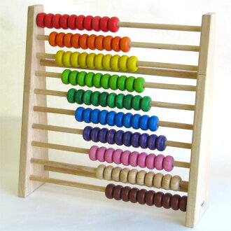 Wooden toys エトボイラ educational toys レインボーアバカス (Univ. of Abacus Shiraki) 3 years: 3-year-old man: woman