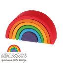 グリムス GRIMM'S アーチレインボーミニ 虹色トンネル ドイツ 【木のおもちゃ 積木 スタッキ