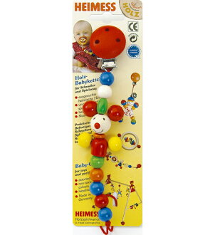 Wooden toys Heimess Himes pacifier holder / chain clip mouse