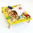 【木のおもちゃ 木の玩具】【収納袋限定80セット】知育玩具 大工 アイムトイ社 カーペンターテーブル 誕生日 3歳 男【こどもの日 初節…