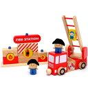 はじめてのブロック遊びにちょうどいいサイズ!【送料無料】木のおもちゃ I'm TOY アイムトイ 知育玩具 組み立て消防車セット【5P13Apr09】【090413_送料無料企画】
